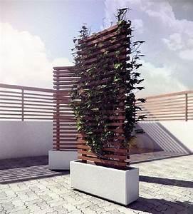 Jardinière Brise Vue : jardini re avec treillis ext rieure r aliser soi m me ~ Premium-room.com Idées de Décoration