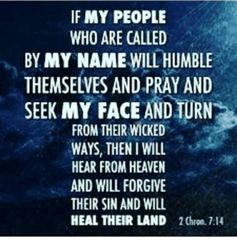 If My People Who Are Called By My Name Will Humble