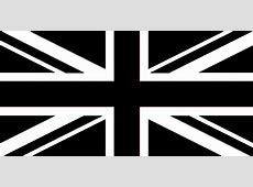 UNION JACK BLACK & WHITE 8 X 5 FLAG
