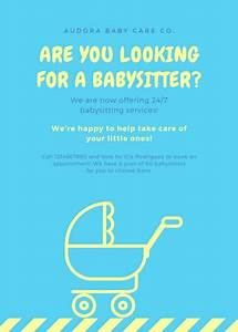 Babysitter Flyer Sample How To Make A Babysitting Flyer Free Resume Templates