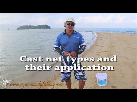 cast net types  applications  catching bait youtube