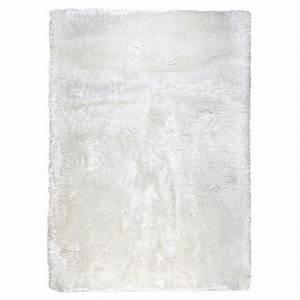 Tapis Shaggy Blanc : tapis ligne pure tiss main shaggy blanc adore 200x300 ~ Teatrodelosmanantiales.com Idées de Décoration