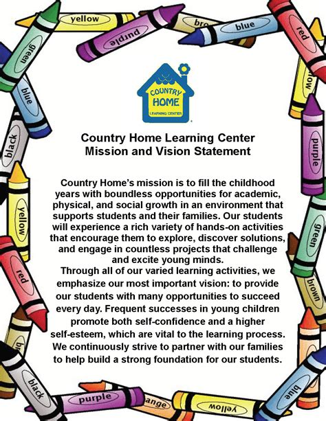 our mission and vision for child care services 520 | MIssion Vision Statament