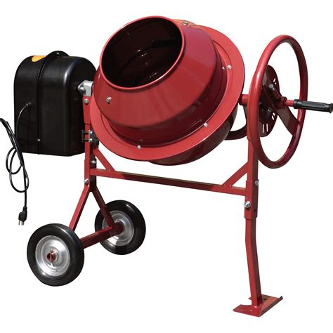 cement mixer northern industrial mini electric cement mixer 1 77 cubic ft model cm125 cement mixers