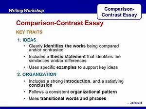 Compare contrast thesis statement examples deadly unna essay thesis