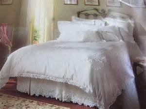 vintage 3 piece white battenburg lace twin duvet cover