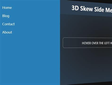 skew side menu  jquery  css transforms  jquery plugins