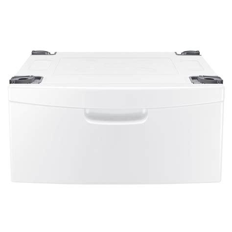 samsung pedestal white samsung we357a0w laundry pedestal with storage drawer in white