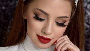 Neutral Smokey Eye & Red Lips Makeup Tutorial YouTube