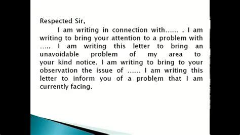write formal letter youtube