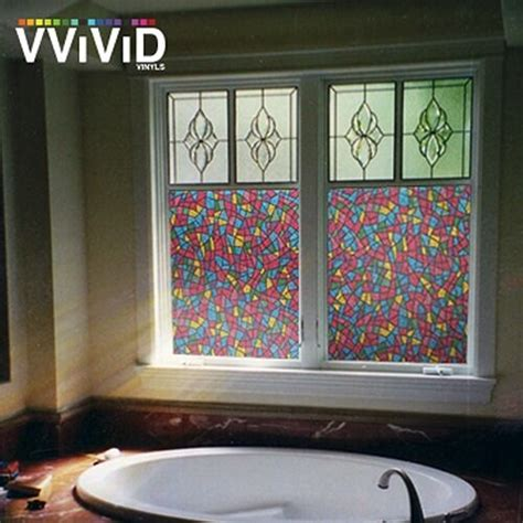 vvivid stained glass frosted privacy vinyl