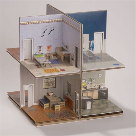 flat pack dollhouse