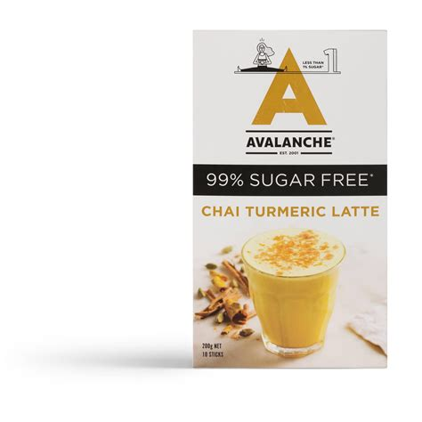 10 boxes of vibrant coffee with 7 sachets per box for only $100. 101910 - 99% Sugar Free Chai Turmeric Latte - Avalanche Coffee