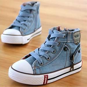 Children Shoes 2016 boys girls high top canvas shoes fashion side zipper sneakers kids shoes ...