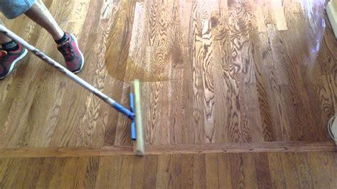 Refinish Hardwood Floors Part  Apply