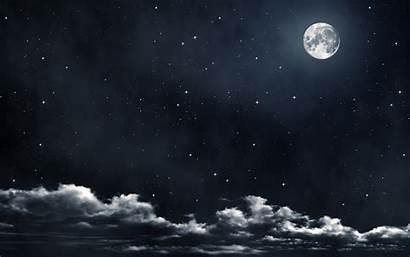 Moon Clouds Night Stars Cloud Sky Star