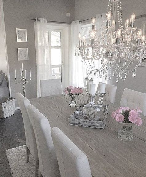 chic grey dining room best 25 white chandelier ideas on painted Shabby
