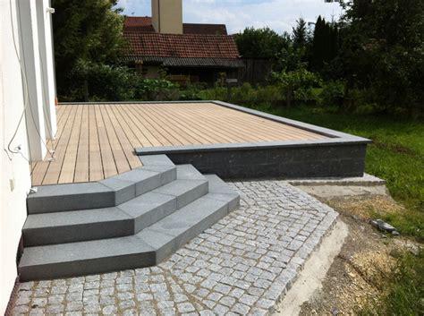 Terrasse Holz Und Stein by Lauterbach Kurowski Gartenservice Gbr Terrassen Aus