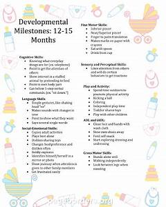 Developmental Milestone Chart 12 To 15 Months