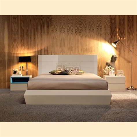 chambre adulte contemporaine design moderne laque bicolore