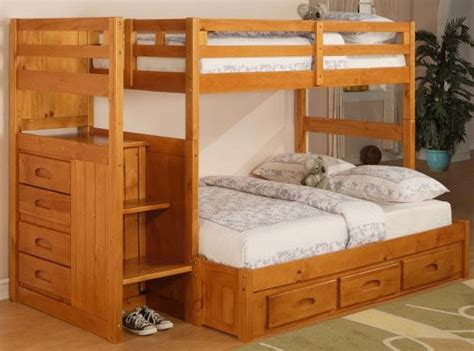 bunk bed  stairs twin  full