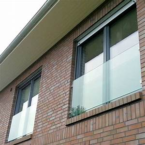 Glas brustungen panther glas for Französischer balkon mit kies für den garten