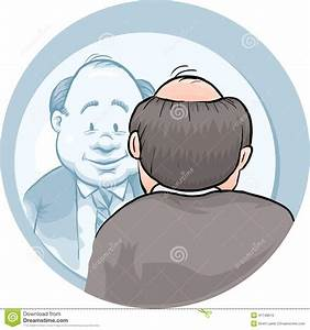 Mirror Man stock illustration. Image of adult, looking ...
