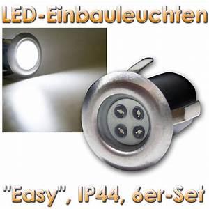 Mini Led Strahler : 6 stk led mini bodeneinbaustrahler spots boden strahler 230v einbaustrahler ip44 ebay ~ Eleganceandgraceweddings.com Haus und Dekorationen
