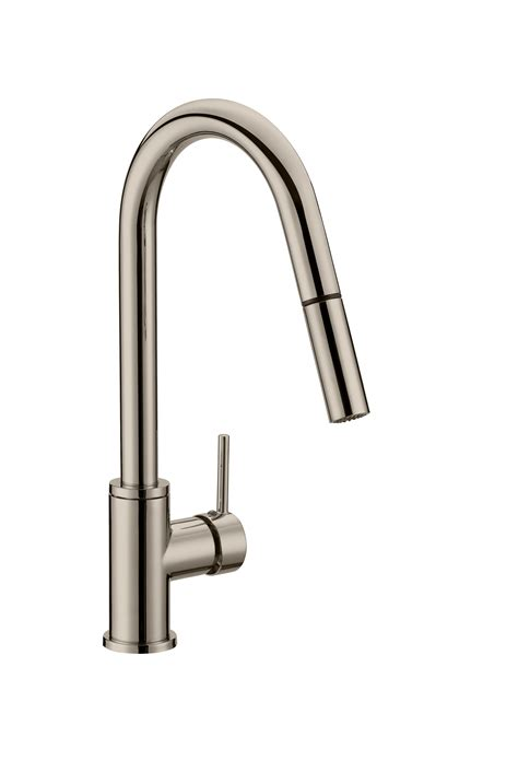 eastport pull kitchen faucet satin nickel 548552