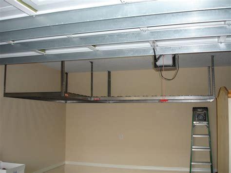 how to build overhead garage storage rack
