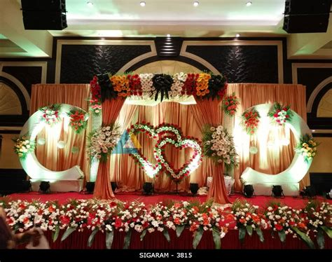 wedding decorations for the reception decoration at anandha inn hotel pondicherry 171 sigaram wedding decorators
