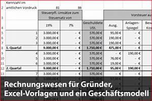 Einnahmen überschuss Rechnung Kleinunternehmer Vorlage : rechnungswesen f r gr nder excel vorlagen und ein gesch ftsmodell ~ Themetempest.com Abrechnung