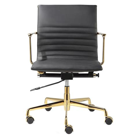 meelano m346 office chair in gold and black italian