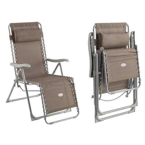 fauteuil de jardin relax silos taupe achat vente