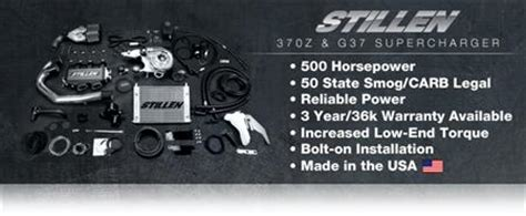stillen 370z supercharger system announcement