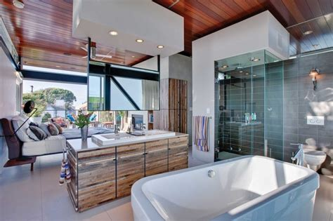 incredible open bathroom concept  master bedroom
