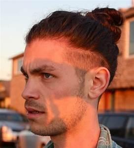 Coupe Cheveux Homme Long : coiffure homme avec un trait sur le c t ~ Mglfilm.com Idées de Décoration