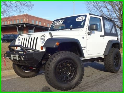 jeep soft top white 1c4ajwag0dl530666 v6 manual 35 inch tires suspension