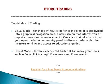 Etoro Forex Trading Review
