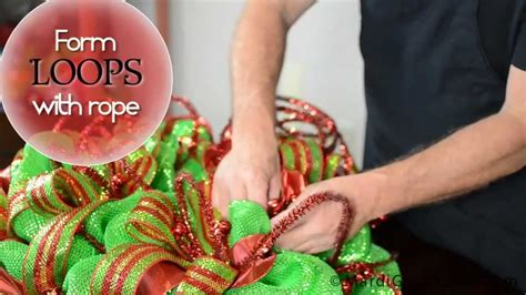 diy deco mesh christmas ball wreath youtube