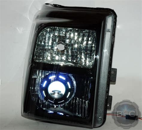 hid f250 headlights projector ford superduty retrofit tuxedo conversion blackflamecustoms