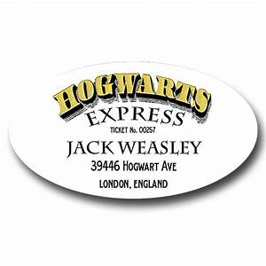 Hogwarts Express Oval Address Labels