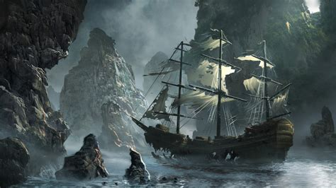 pirate ship battle wallpaper wide outdoors wallpaper p