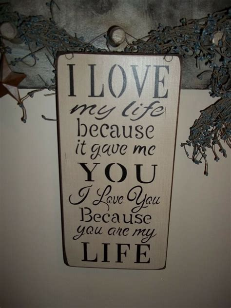 Primitive Wood Signs Love You Country Rustic Home
