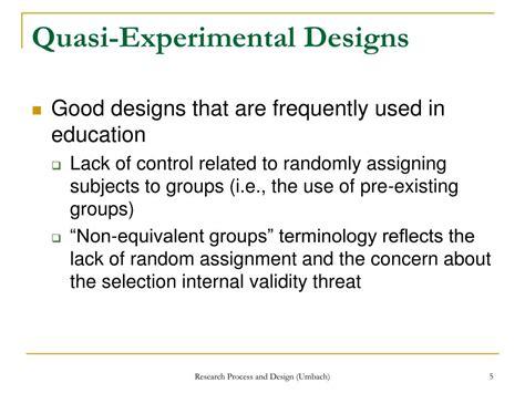 quasi experimental design ppt experimental research designs part 2 powerpoint