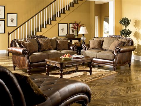 claremore antique living room set from ashley 84303