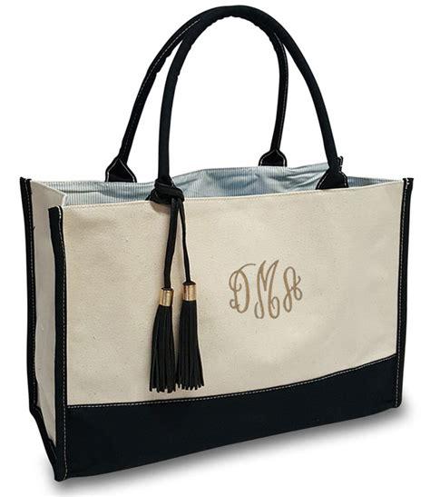 monogram tote monogrammed tote bag