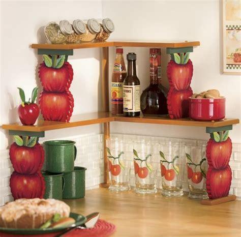 apple double corner shelves apple kitchen decor cheap