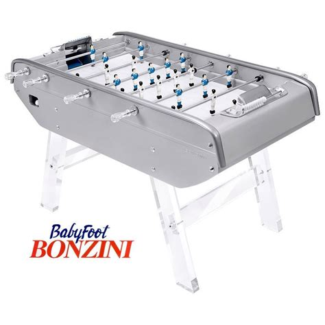 babyfoot bonzini b90 laqu 233 gris pieds transparents