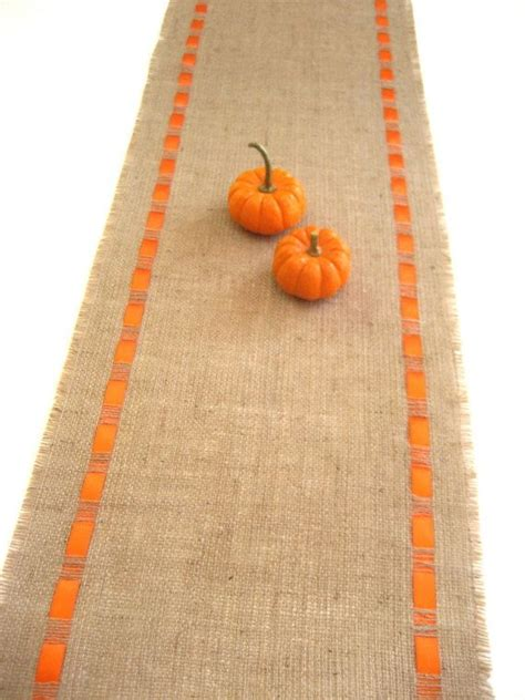easter table runner  orange ribbon rustic chic table